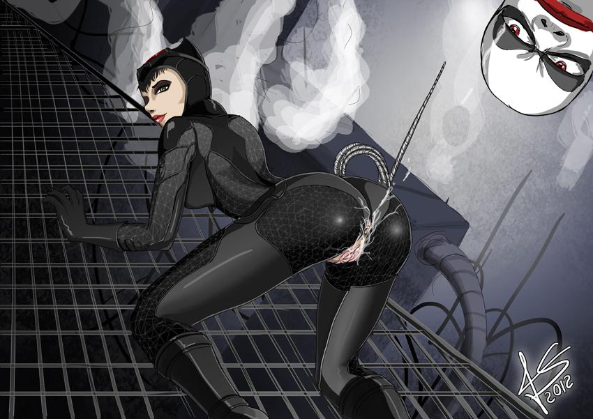 city catwoman arkham naked batman R-mk