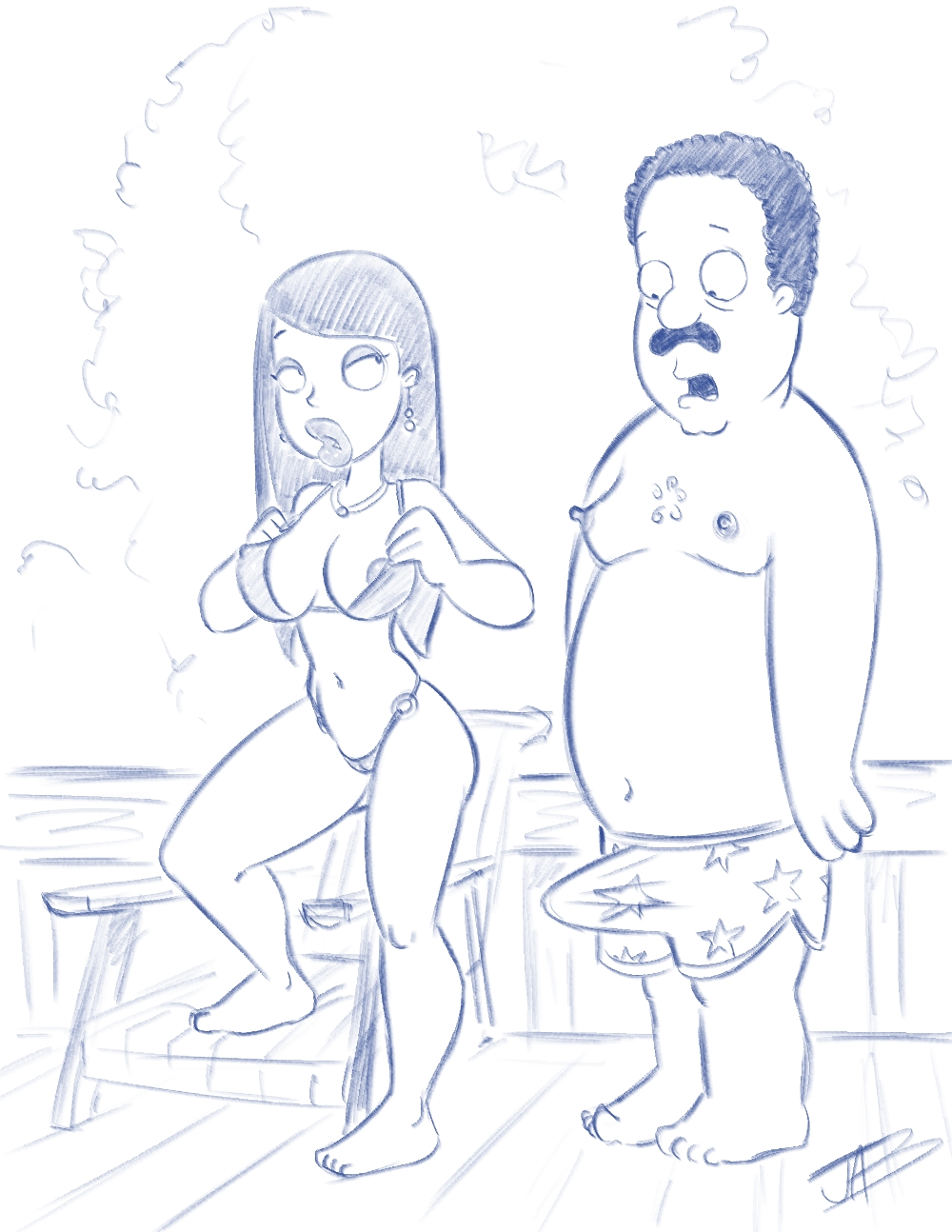 donna the cleveland show naked Ben ten and gwen porn