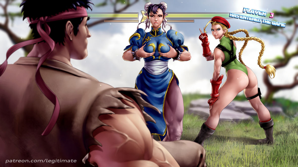 fighter white street cammy v Father and son