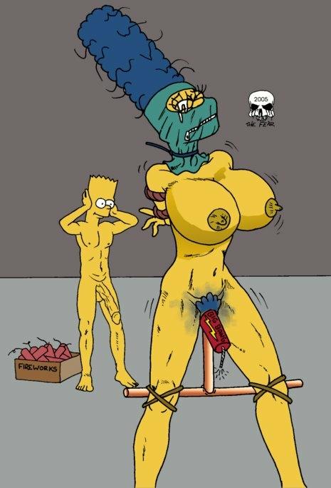 marge bart with simpson naked Kill la kill glowing nipples