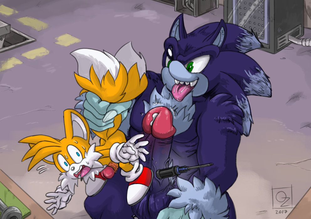 werehog and the tails sonic Shinmai maou no testament baka