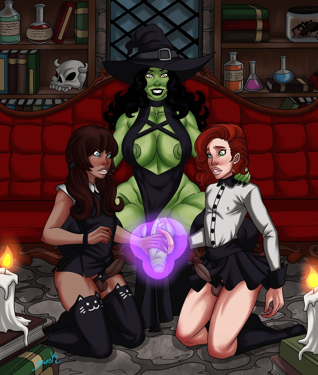 slaughter gamer witch of the Regular show season 5 episode 34