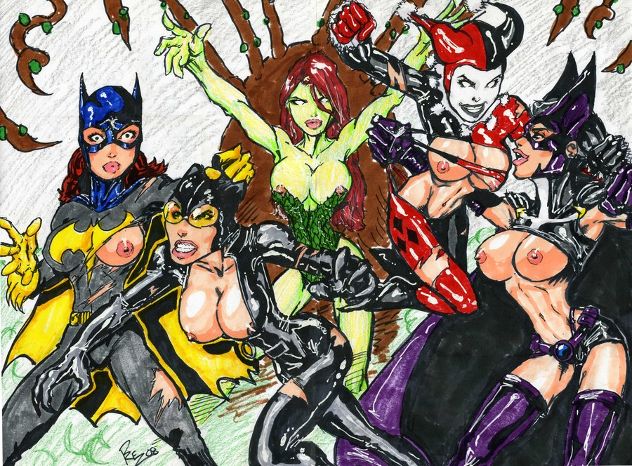 quinn catwoman xxx and harley Abyss marvel vs capcom 2