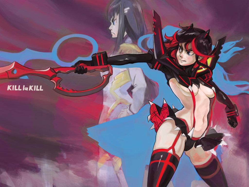 satsuki transformation kill gif la kill Dark souls 2 ruin sentinel