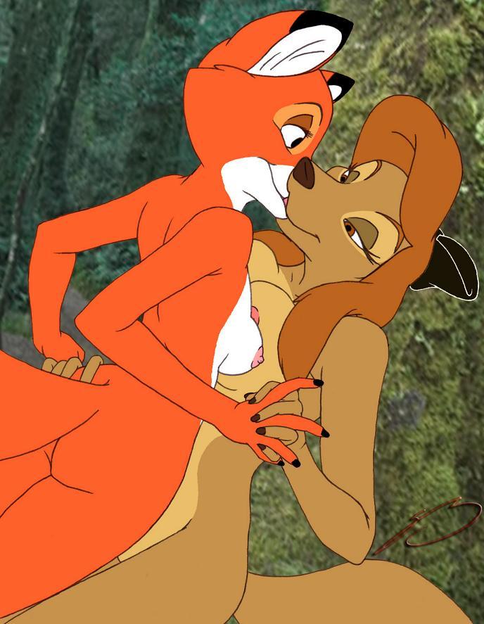 and fox the hound gay Dick in a hotdog bun