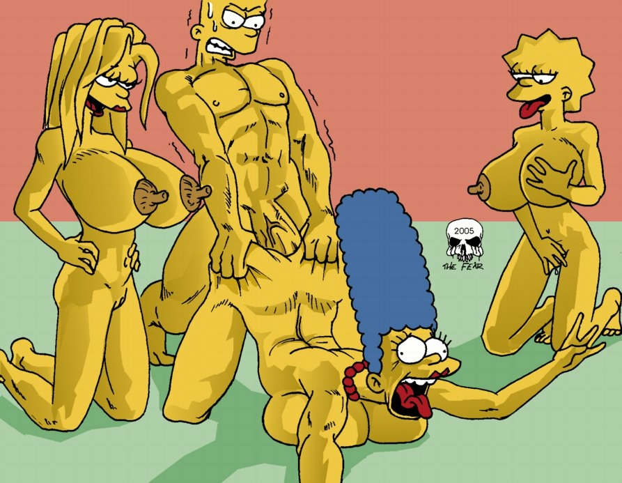 with naked marge bart simpson Ghost in the shell borma