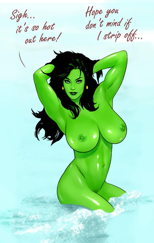 she-hulk spiderman and Rick and morty summer tits