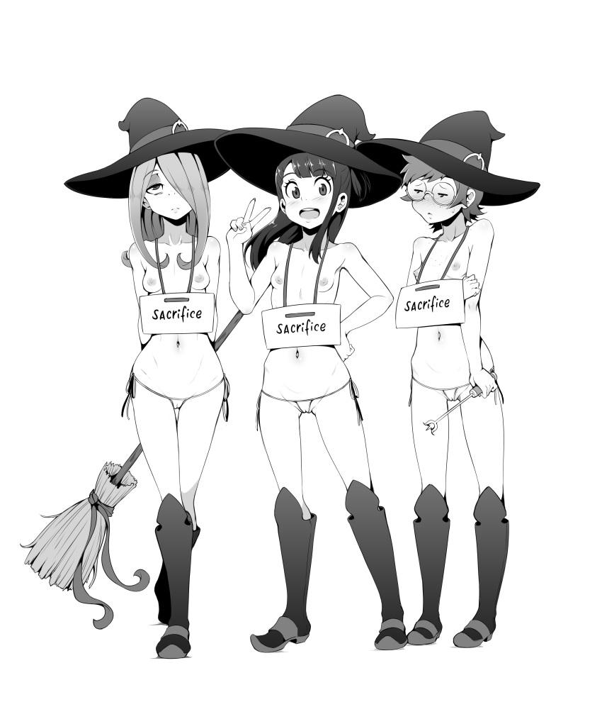 hanna and witch little academia barbera Mizugi kanojo: the animation