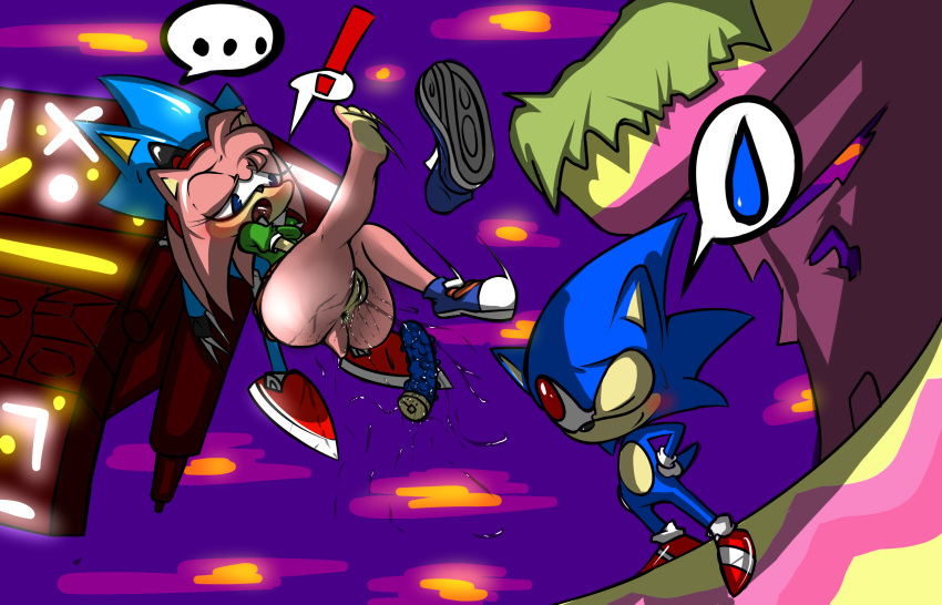 blue hedgehog arms the sonic Touch the cow, do it now