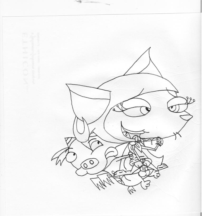 courage the dog cowardly Yokosou! sukebe elf no mori